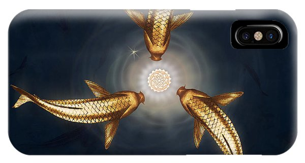 Golden Koi And Lotus IPhone Case