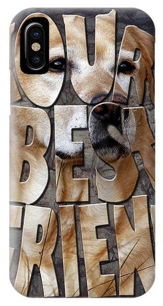 Golden Labrador Retriever Typography Art IPhone Case
