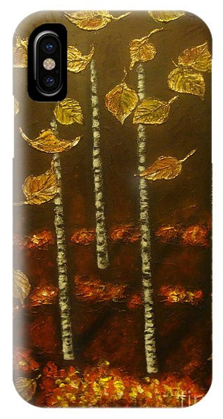 Golden Leaves 2 IPhone Case
