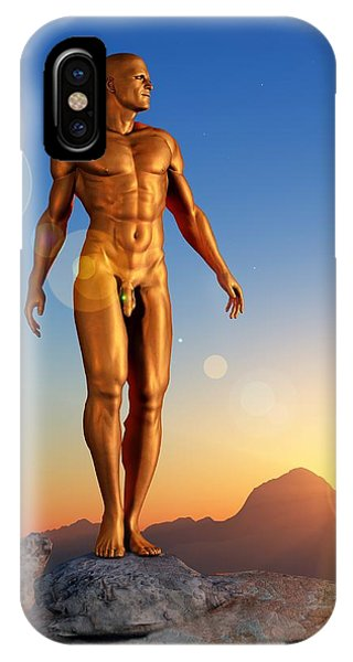 Golden Man IPhone Case