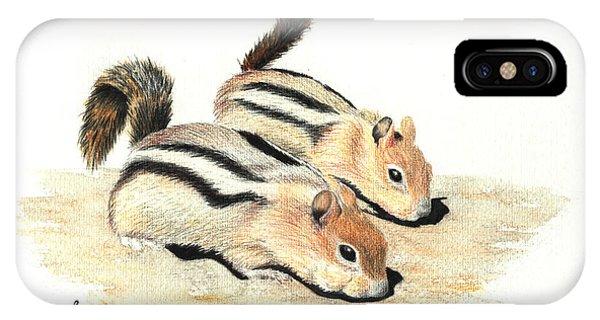 Golden-mantled Ground Squirrels IPhone Case