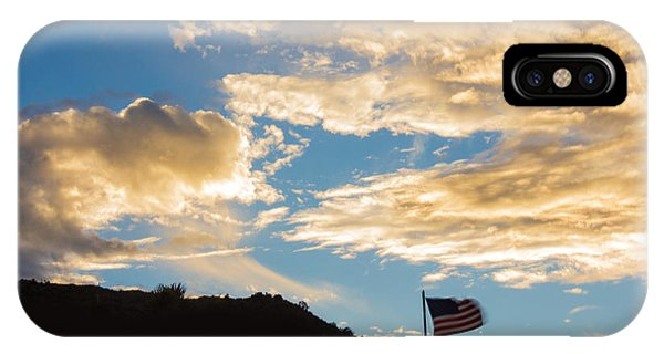 Golden Moment For Our Flag IPhone Case