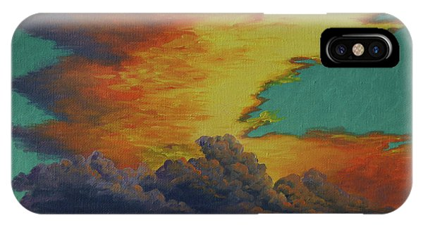 Golden Monsoon IPhone Case