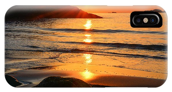 Golden Morning Singing Beach IPhone Case
