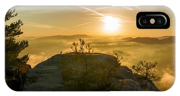 Golden Morning On The Lilienstein IPhone Case