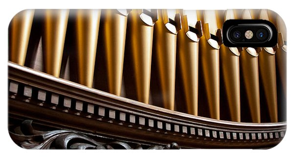 Golden Organ Pipes IPhone Case