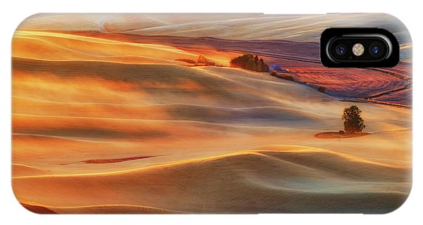Golden iPhone Case - Golden Palouse by Lydia Jacobs
