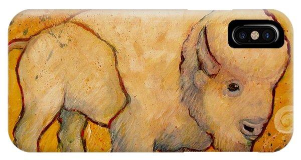 Golden Peace White Buffalo IPhone Case