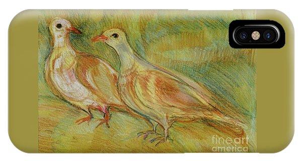 Golden Pigeons IPhone Case