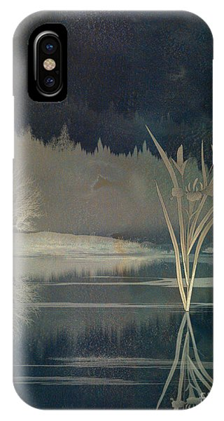 Shrub iPhone Case - Golden Pond Lily by Peter Awax