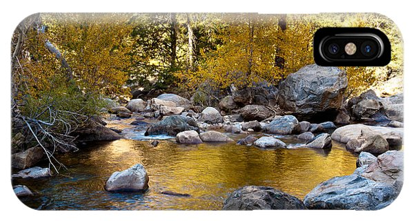 Golden Pool On Roaring River  1-7797 IPhone Case