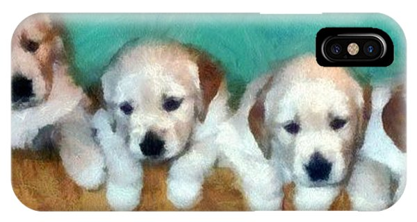 Golden Puppies IPhone Case