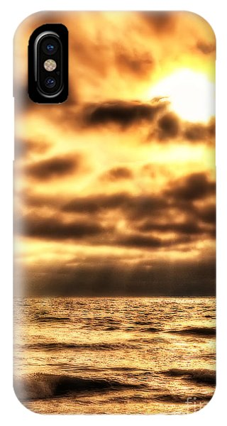 Golden Rays On The Ocean IPhone Case