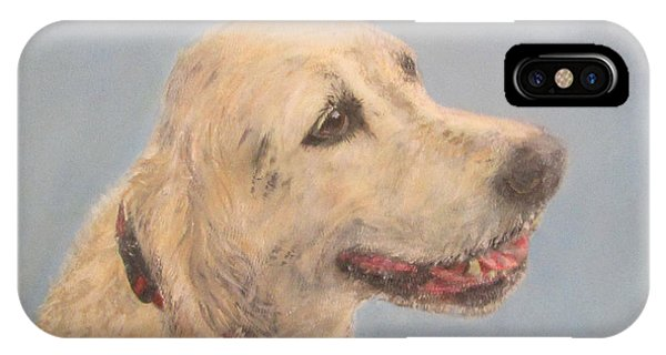 Pet Portrait Of Golden Retriever Maisie  IPhone Case