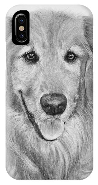 Golden Retriever Sketch IPhone Case