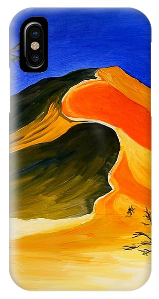 Golden Sand Dune Center Panel IPhone Case