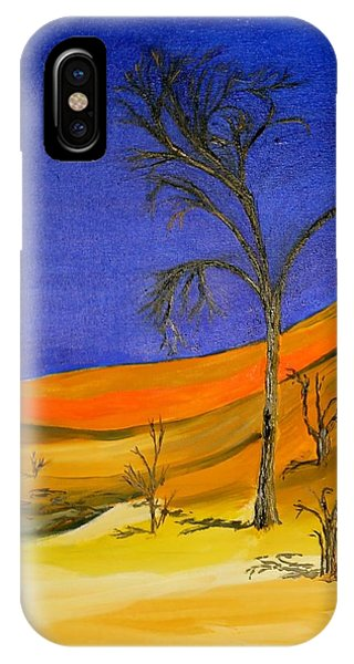 Golden Sand Dune Left Panel IPhone Case