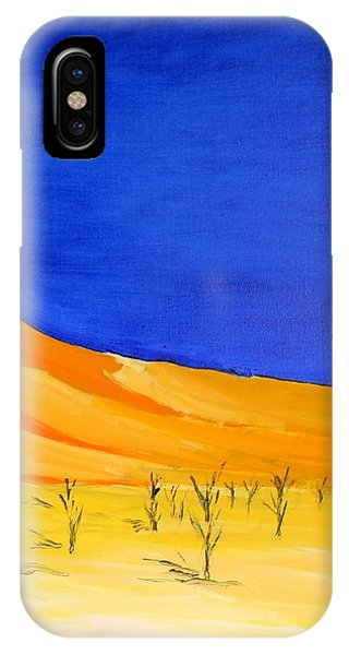 Golden Sand Dune Right Panel IPhone Case