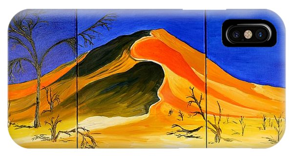 Golden Sand Dune_triptych IPhone Case