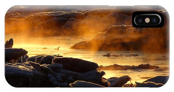 Tidal Marsh iPhone Case - Golden Sea Smoke At Sunrise by Dianne Cowen