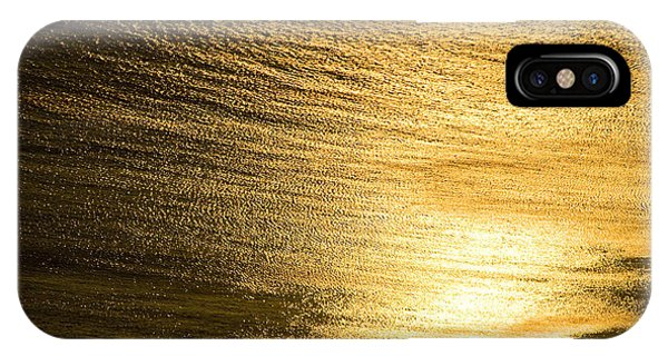 Golden Sea With Boat At Sunset IPhone Case