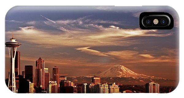 Golden Seattle IPhone Case