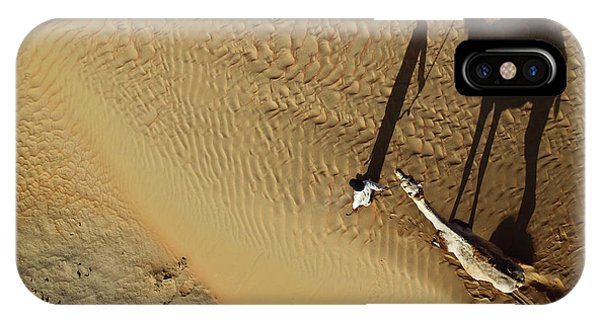 Sand iPhone Case - Golden Shadows by Shoayb Hesham Khattab