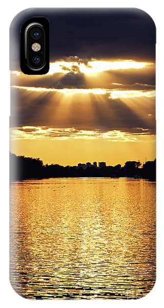 Sun Set iPhone Case - Golden Sunrays by Elena Elisseeva