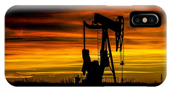 Golden Sunrise And West Texas Black Gold IPhone Case