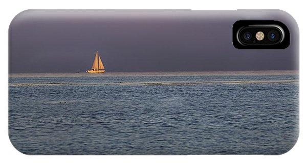 Golden Sunrise Sails By Denise Dube IPhone Case
