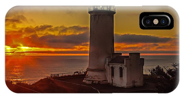 Golden Sunset At North Head Lighthouse IPhone Case