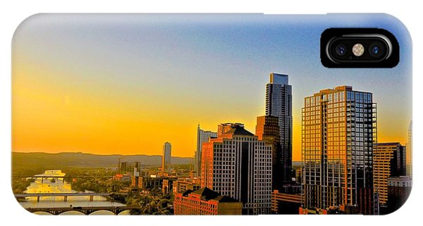 Golden Sunset In Austin Texas IPhone Case