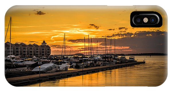 Golden Sunset IPhone Case