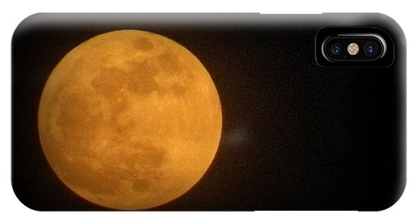 Golden Super Moon IPhone Case