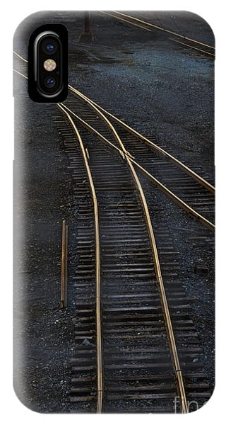 Track iPhone Case - Golden Tracks by Margie Hurwich