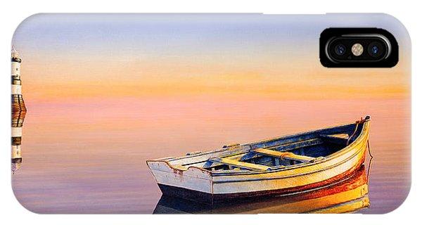Lighthouse iPhone Case - Golden Twilight by Horacio Cardozo