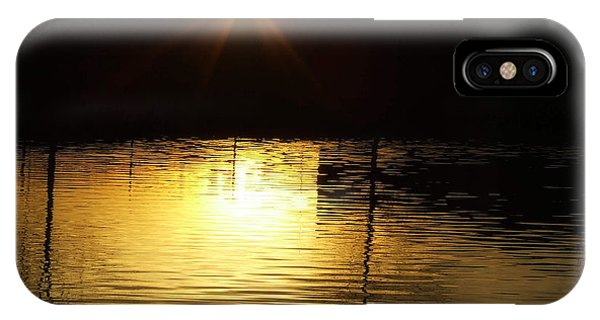Golden Water IPhone Case