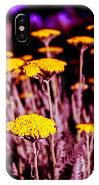 Golden Yarrow On A Blood Moon Night IPhone Case