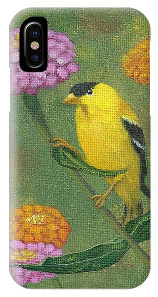 Goldfinch Garden IPhone Case