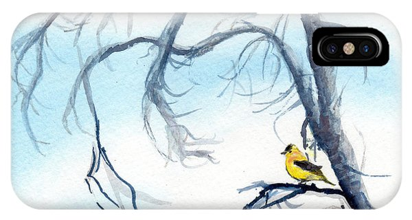 Goldfinch In Tree IPhone Case