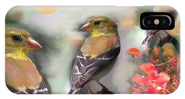 Goldfinch Springtime IPhone Case