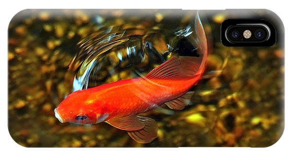 Goldfish Swimming IPhone Case