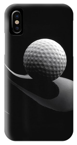 Golf Ball iPhone Case - Golf Ball And Club by John Wong
