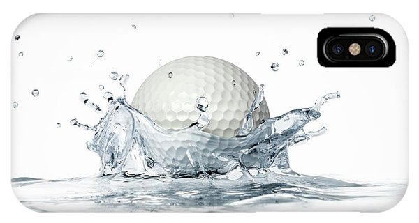Golf Ball Splashing Into Water Phone Case by Leonello Calvetti
