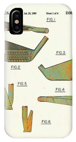 Golf Club Patent-1989 IPhone Case