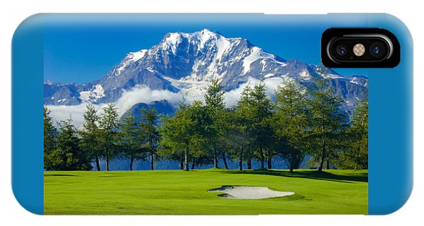 Golf Course In The Mountains - Riederalp Swiss Alps Switzerland IPhone Case