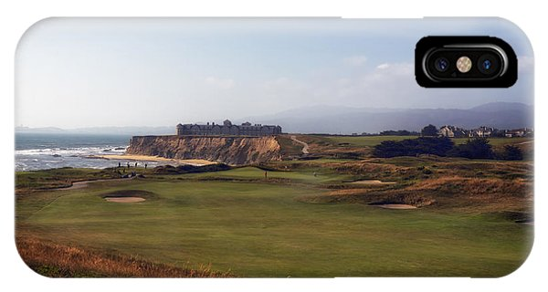 Half Moon Bay iPhone Case - Golf Course On Half Moon Bay by Mountain Dreams