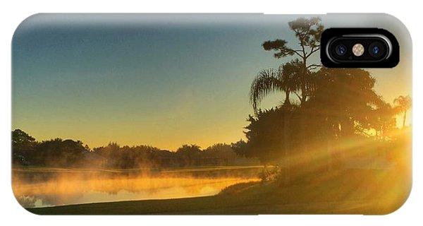 Golf Course Sunrise IPhone Case
