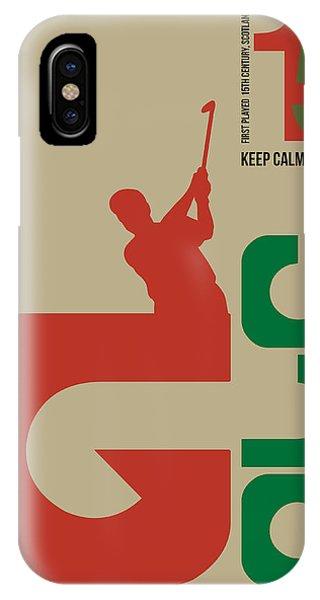 Golf iPhone Case - Golf Poster by Naxart Studio
