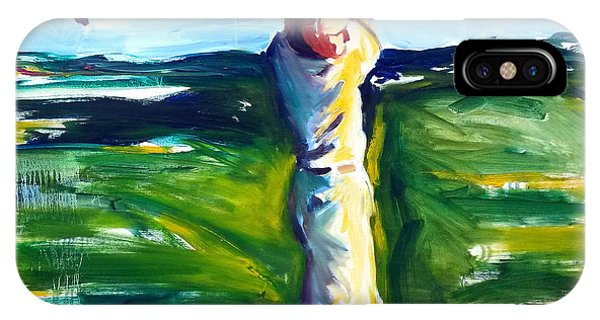 IPhone Case featuring the painting Golf Swing by John Jr Gholson